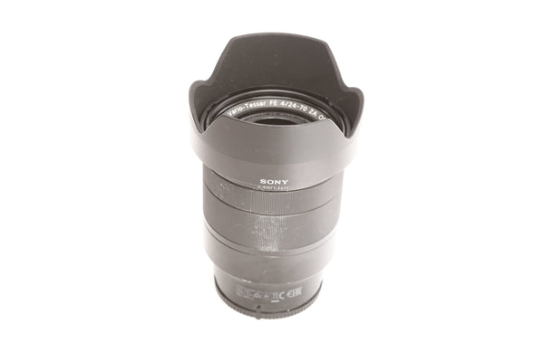 Zeiss FE 24-70mm f4 ZA OSS Vario-Tessar with hood - Sony E-mount