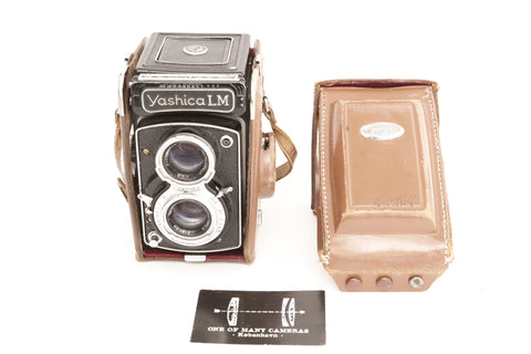 Yashica LM TLR with Yashikor 80mm f3.5 - LIGHT METER WORKS!
