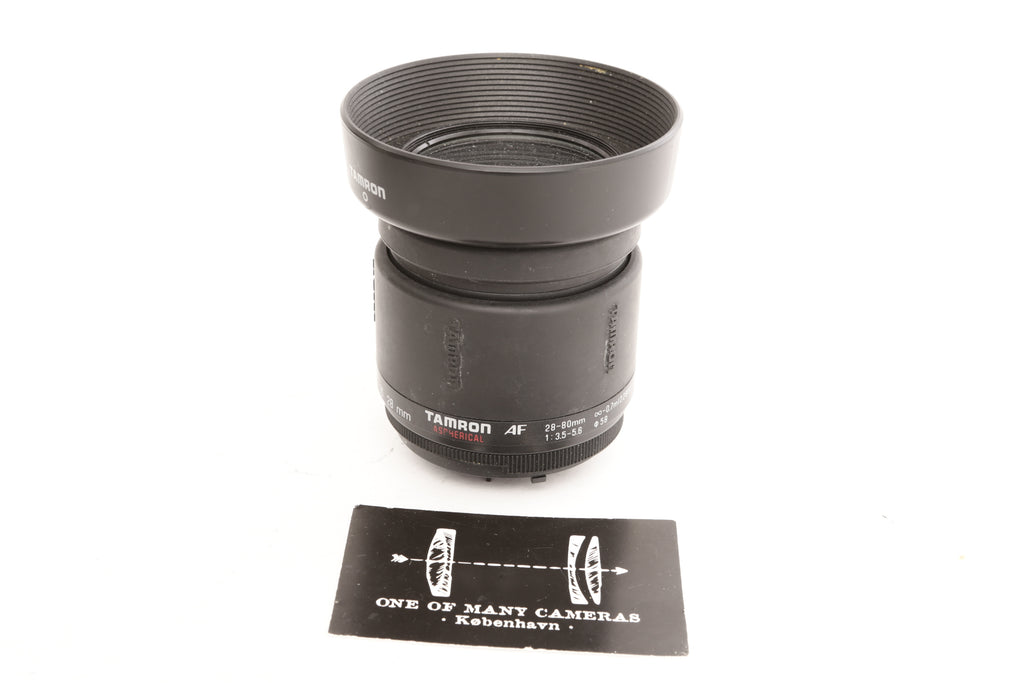 Tamron AF 28-80mm f3.5-5.6 Aspherical with hood - Nikon mount