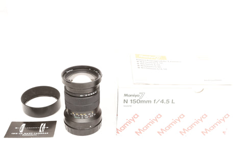 Mamiya 7 150mm f4.5 N L with hood and box