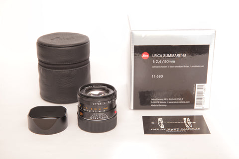 Leica M 50mm f2.4 Summarit (11680) Black Anodized with box and pouch
