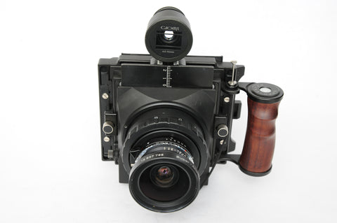 Gaoersi Super 4x5 Camera with Schneider 90mm f8 Super-Angulon Multicoating in Copal 0 shutter and viewfinder