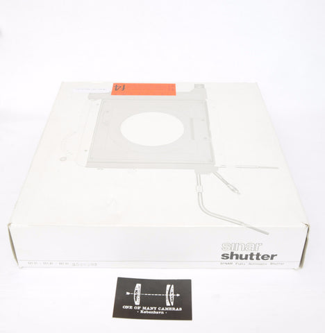 Sinar Copal Shutter Fully Automatic - incl all release cables and box - for Sinar 4x5 5x7 8x10