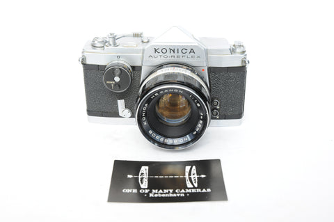 Konica Auto-Reflex with 52mm f1.8 Hexanon - Provenance of famous rapper MC Einar!