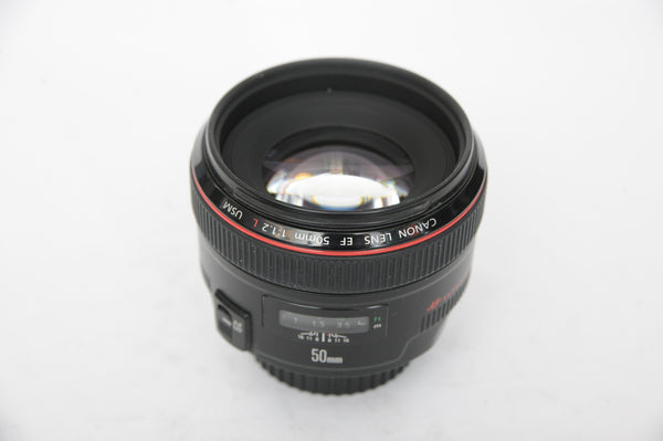 Canon EF 50mm f1.2 L USM with hood ES-78 and box