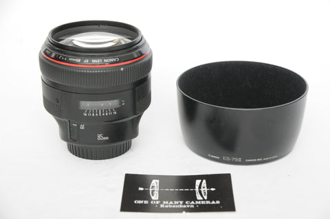Canon EF 85mm f1.2 L USM with hood ES-78