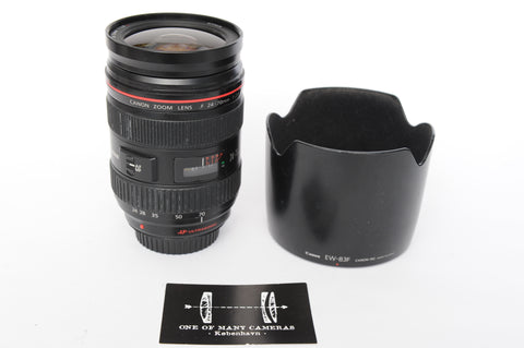 Canon EF 24-70mm f2.8 L with hood EW-83F