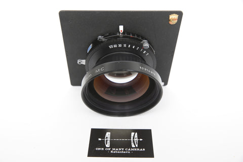 Rodenstock 360mm f/6.8 Sironar N MC in Copal shutter on Linhof board