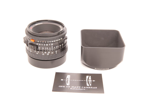 Hasselblad 80mm f2.8 Planar CFE with hood