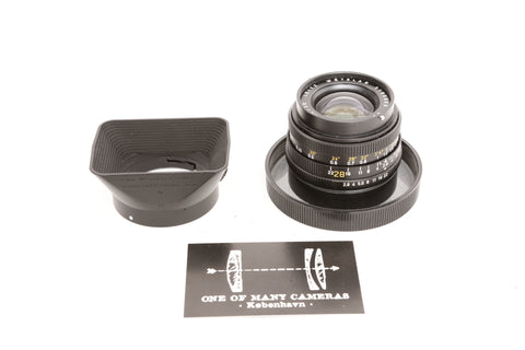 Leica R 28mm f2.8 Elmarit-R 11204 with hood 12509