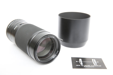 Contax 645 210mm f4 Zeiss Sonnar with hood GB-74