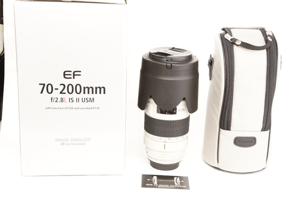 Canon EF 70-200mm f2.8 L IS II USM with Hood ET-87 - LIKE NEW IN BOX