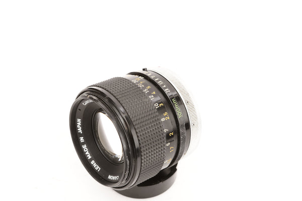 Canon FD 100mm f2.8 S.S.C. with hood BS-55