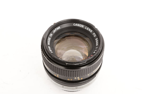 Canon FD 50mm f1.4 S.S.C. with hood BS-55