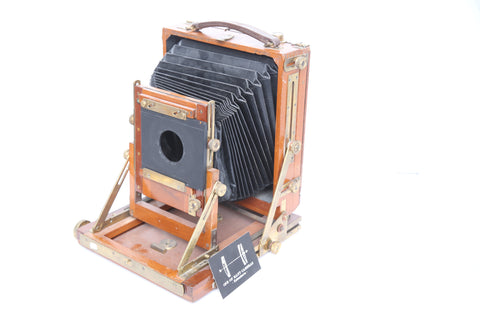 Gandolfi 5x7 with 4x5 reducing back - wooden field camera