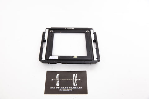 Mamiya P Adapter For using polaroid backs on Mamiya RB67