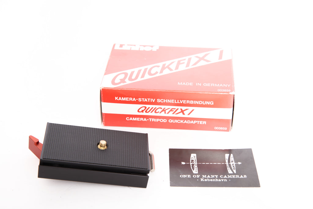 Linhof Quickfix I (003859) Large Quick Release Adapter with Plate