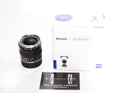 Zeiss ZM 25mm f2.8 Biogon T* - for Leica M