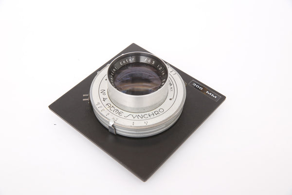 Kodak 12 inch 300mm f6.3 Commercial Ektar - Acme Synchro No 4 shutter -  Sinar board - covers 8x10 5x7 4x10