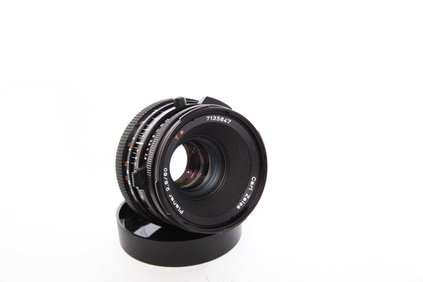 Hasselblad 80mm f2.8 CF Zeiss Planar with hood