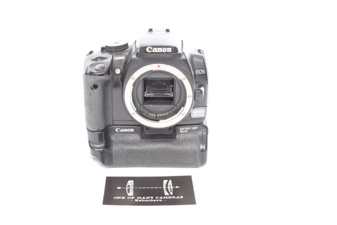 Canon EOS 400D with BGM-E3 battery grip