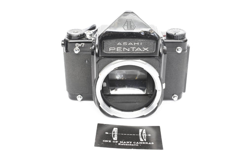 Pentax 6x7 with prism finder