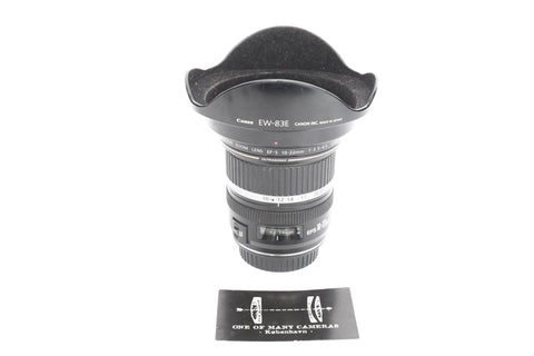 Canon EF-S 10-22mm f3.5-4.5 Ultrasonic with hood EW-83E