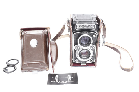 Rolleiflex C 3.5 Typ K4C with 75mm f3.5 Planar and light meter