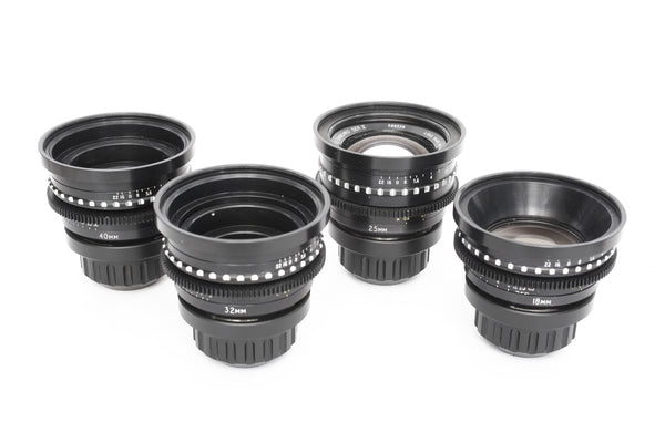 Cooke Speed Panchro SII SIII KIT - 18mm - 25mm - 32mm - 40mm - PL Mount - Rental Only