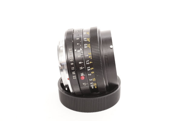 Leica R 28mm f2.8 Elmarit-R 11204 with hood 12509 and box