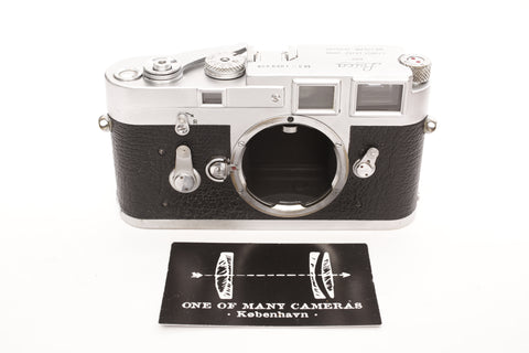 Leica M3 Chrome - completely restored February 2019