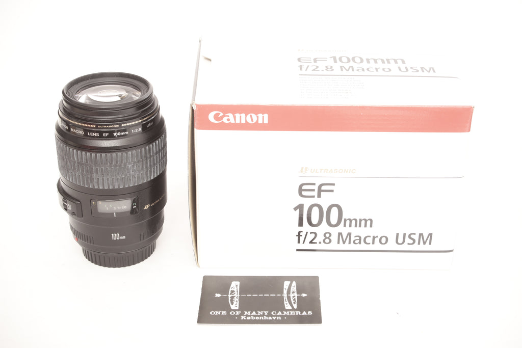 Canon EF 100mm f2.8 Macro USM - with box