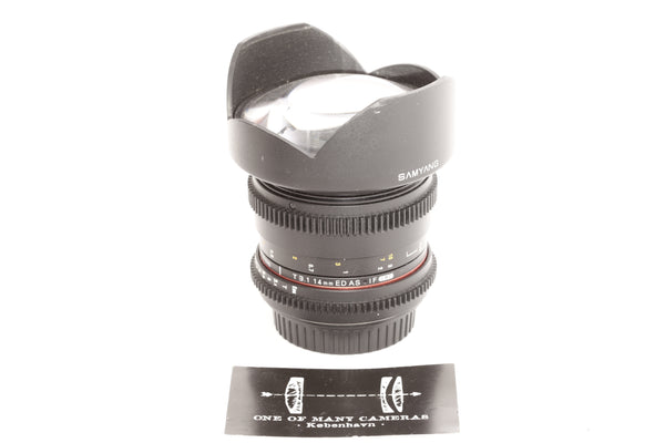 Samyang 14mm T3.1 VDSLR ED AS IF UMC - Canon EF-mount