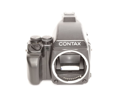 Contax 645 with Prism Finder and boxes