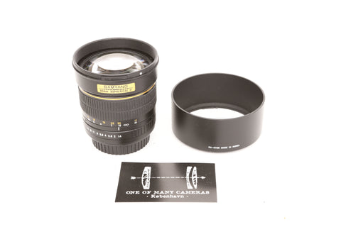 Samyang 85mm f1.4 Aspherical IF - Canon EF