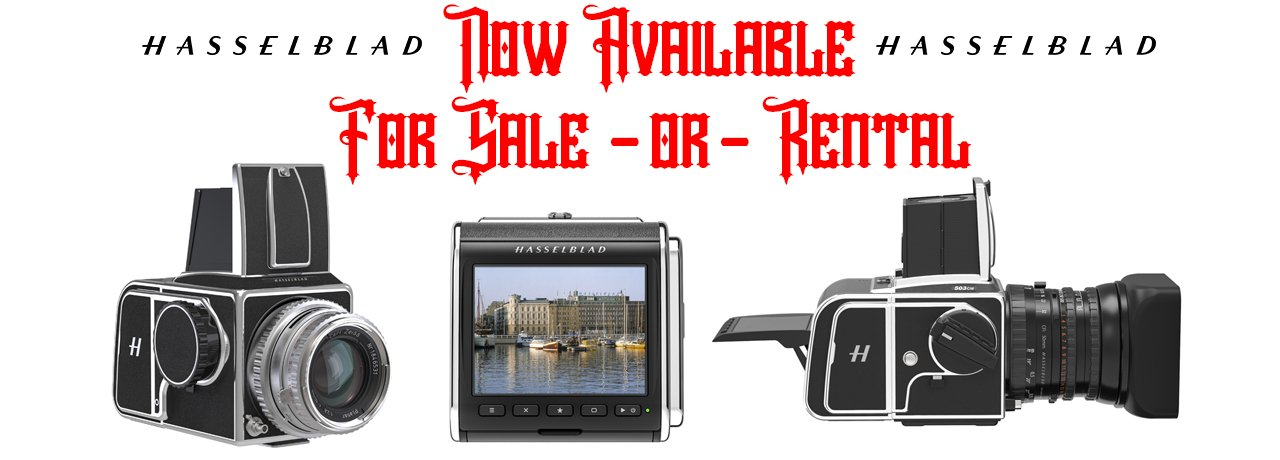 High end digital medium format cameras available for rent
