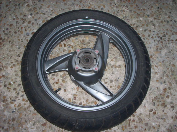 2004 Kawasaki ZZR 600 ZX E11, Jantes Ariere , pneu, rear wheel with tyre, Rad Fe