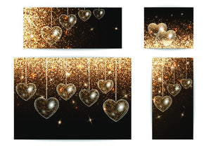 Black and Gold Glitter Hearts