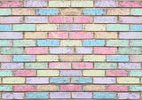 Coloured Chalk Brick Wall Backdrop