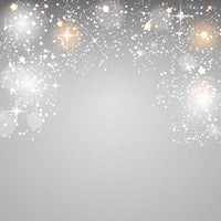 Sparkly Silver Stars Xmas Photography Background