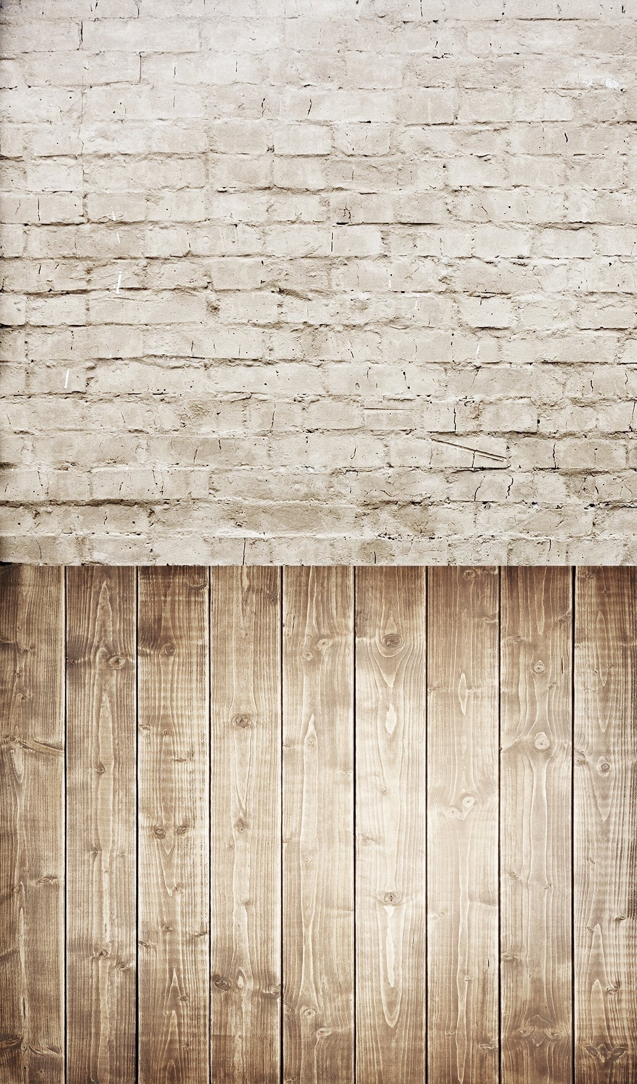 Wooden Floor & Sandy Brick Wall