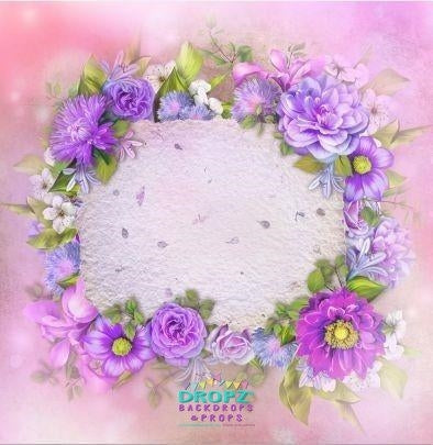 Backdrop - Amy Floral Wreath