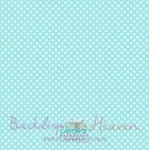 Backdrop - Aqua Polka Dots