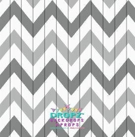 Backdrop - Aztec Grey Chevron