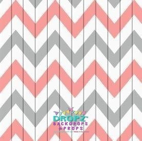 Backdrop - Aztec Peach Chevron