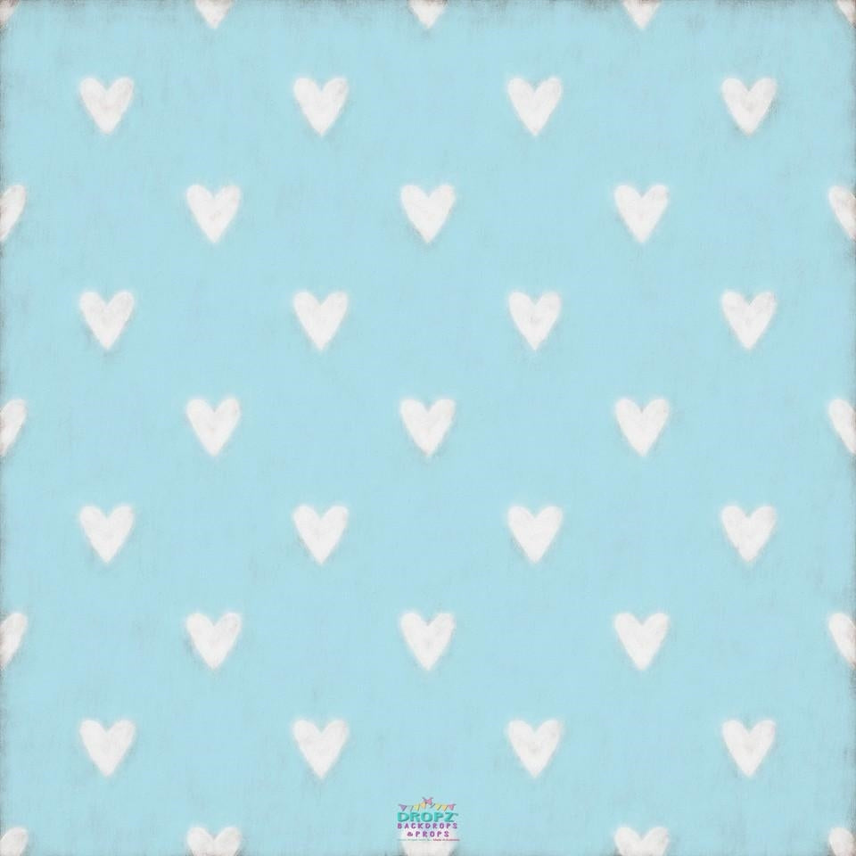 Backdrop - Baby Blue Hearts