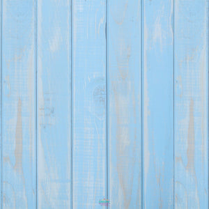 Backdrop - Baby Blue Wooden Planks