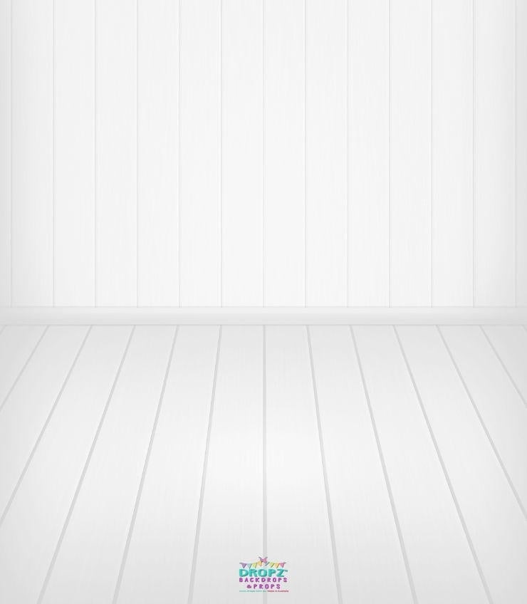 Backdrop - Basic Clean White Wooden Combo