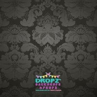 Backdrop - Black Damask