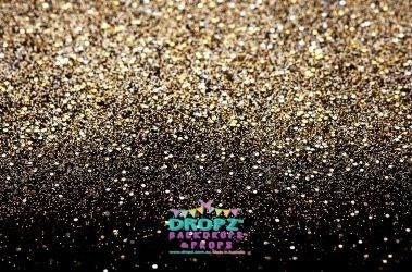Backdrop - Black & Gold Glitter